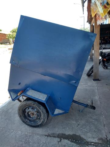 Vendo Reboque pra moto ou carro em excelente estado de conservação, seminovo!!! - Foto 6