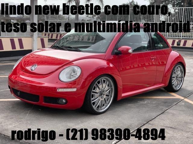 Raridade! New Beetle Aut. 2007 com couro, mídia android e teto solar. Tel: *