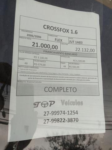 CrossFox 1.6 2006 4 pneus novos baixa entrada - Foto 5