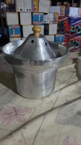 Leiteira de alumínio batido