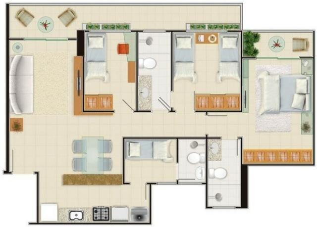 AP0357 - Apartamento 3 quartos, 84m² - Parquelândia - Fortaleza/CE - Foto 11