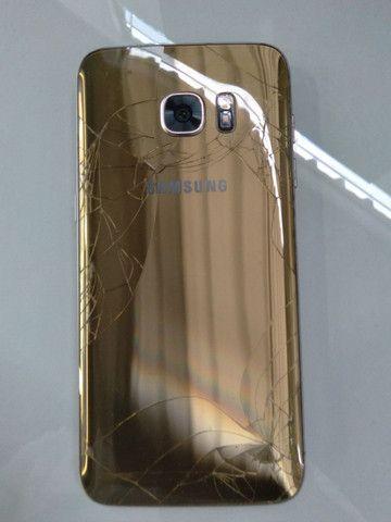 Samsung S7 Edge dourado - Foto 2