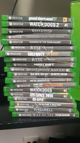 Xbox One Original  +19 jogos + kinect + 2 controles + headphones tudo no original - Foto 4