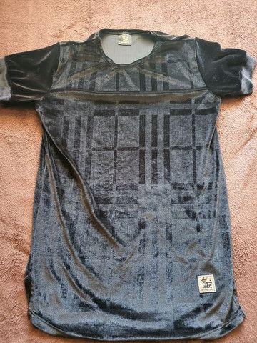 Camisas longline veludo  - Foto 6