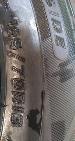 Vendo 4 rodas liga leve e 4 pneus Dunlop zerados - Foto 5