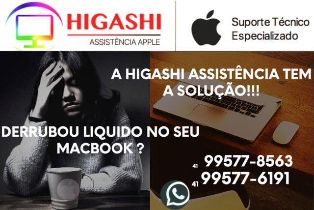 Higashi Assistência Apple - Derrubou liquido em seu Macbook?