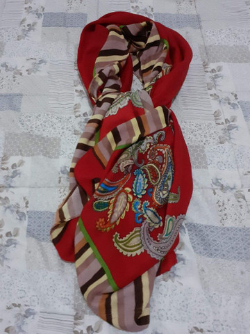 pashmina vermelha grande - Foto 2