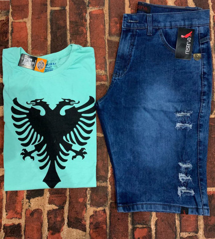 Kit masculino camiseta & bermuda - Foto 2