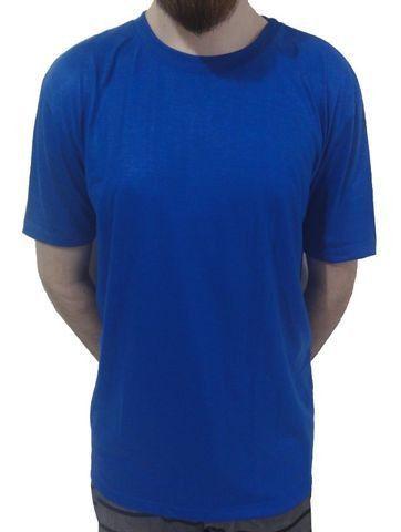 Camiseta 100% Poliéster Azul Lisa