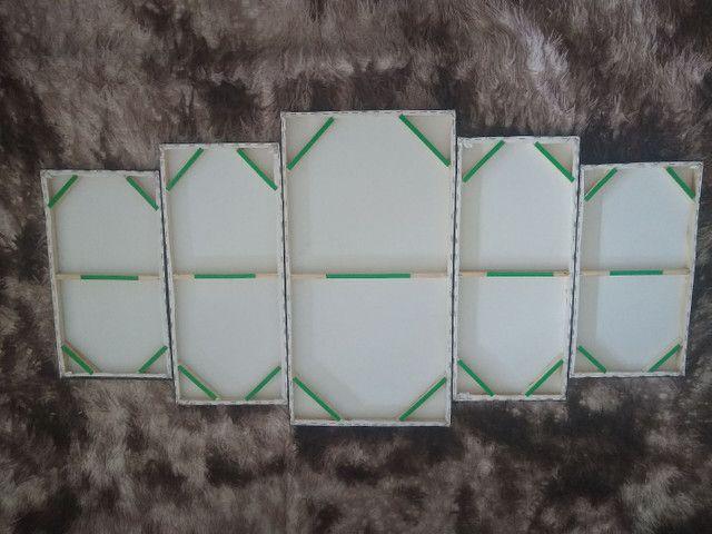 Quadro em mosaico cavalos com 5 peças - Foto 5