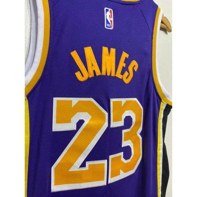 Camisa NBA Lakers bordada - Foto 6