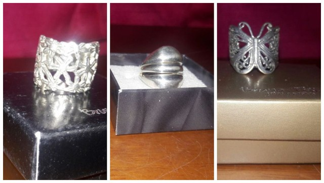 Ler descrição + Anéis Prata 925-950 da Prata Fina e Bruna Tessaro