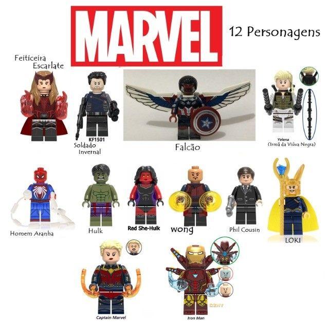 """Lote 12 Legos Marvel R$ 110,00 """"Compatível com Lego"""""""