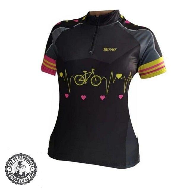 Promoção Camisa feminina Pro Tour ciclismo bike bicicleta dryfit manga curta - Foto 3