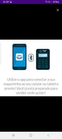 Maquininha Mercadopago POINT ME 30s Blue Nova via Bluetooth - Foto 3