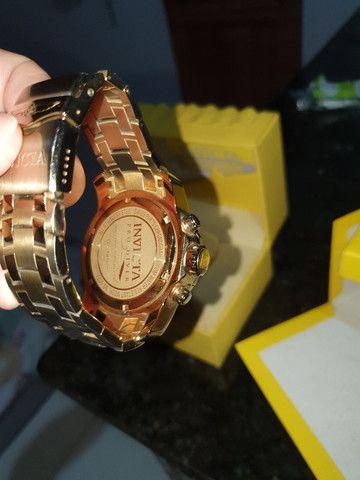 Relógio invicta banhado a ouro 24k Relógio original