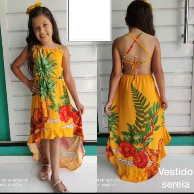 Vestidos viscose infantil varejo e atacado direto de fabrica