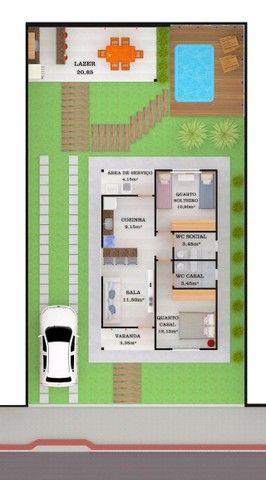 Oportunidade Casa de 2 quartos com suíte em lote individual com 300m²  - Foto 2