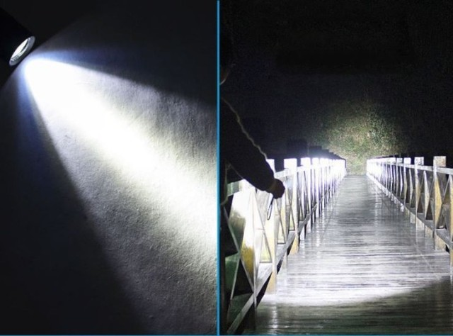 Mini Lanterna Tática 9cm - Foto 3