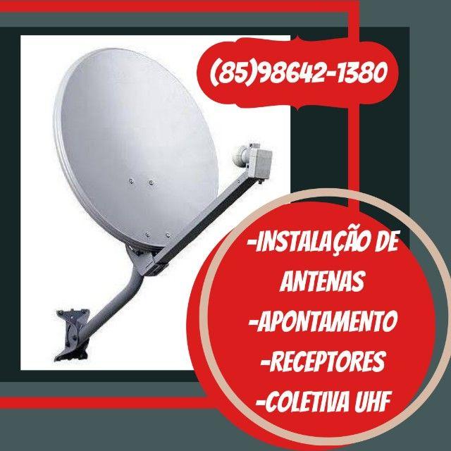 Especialista em Antenas - Instalação - Apontamento- venda de receptores