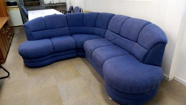 Sofá de Canto Azul