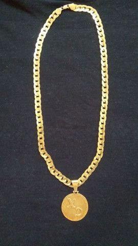 Vendo cordão de prata banhado a ouro 400