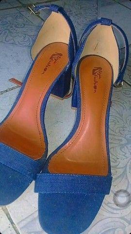 Sandália salto alto