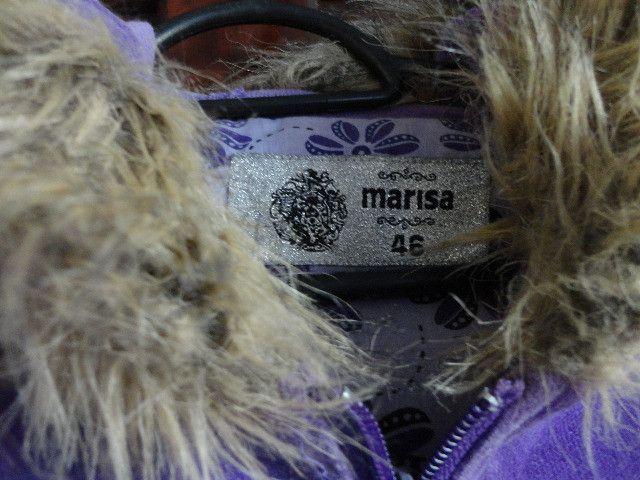 Casaco feminino com capuz cor uva - Foto 3