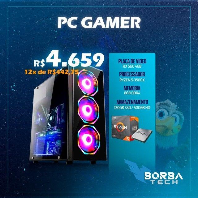 PC Gamer Ryzen 5 - 8GB - RX 560 4GB | Passo Cartão