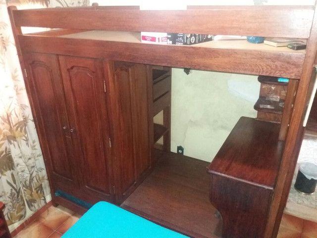 Beliche guarda-roupa escrivaninha armário 4 em 1 - Foto 4