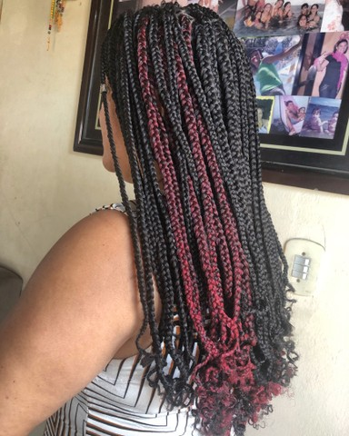 Tranças box braids e nagô  - Foto 3
