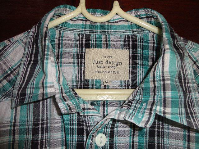 Camisa xadrez verde masculina