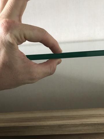 Aparador/bancada em MDF e vidro transparente 12mm - Foto 4