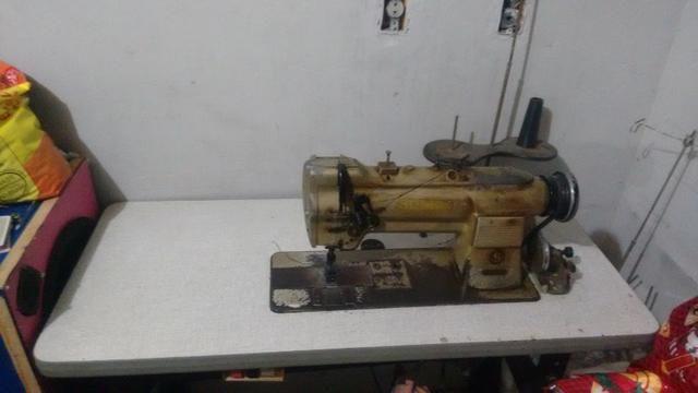 Maquina industrial 2 agulhas para pesponto