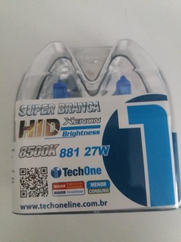 Lâmpada super branca 881-27w tech one garantia instalado