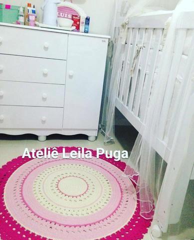 Tapete em croche quarto infantil