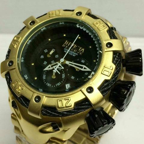 Relógio Thanderbolt Cara preta e dourada
