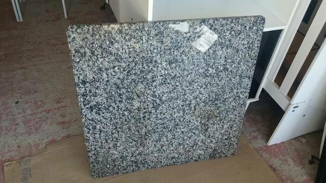 Tampo de mármore 70x70 para mesas pequenas novo ideal para apartamentos