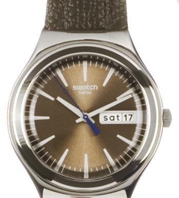480fc8fe028 Raro Relógio Swatch Masculino Irony Ygs748 Brown Suit - Bijouterias ...