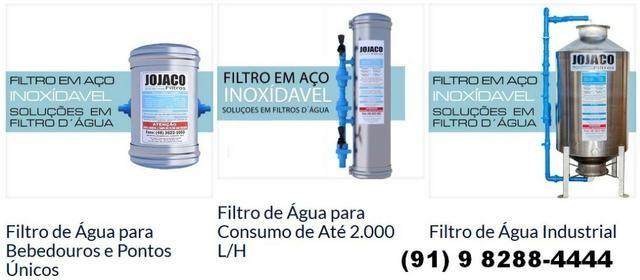 Filtro água aço inox 1000l/h para residências e máquinas de açai - Parcelo no boleto - Foto 5