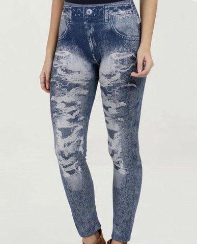 Calça legging imita jeans - Foto 3