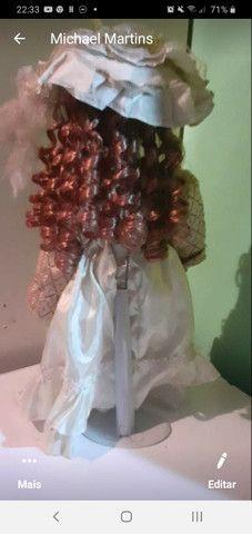 Boneca porcelana 40 a 50 cm - Foto 4