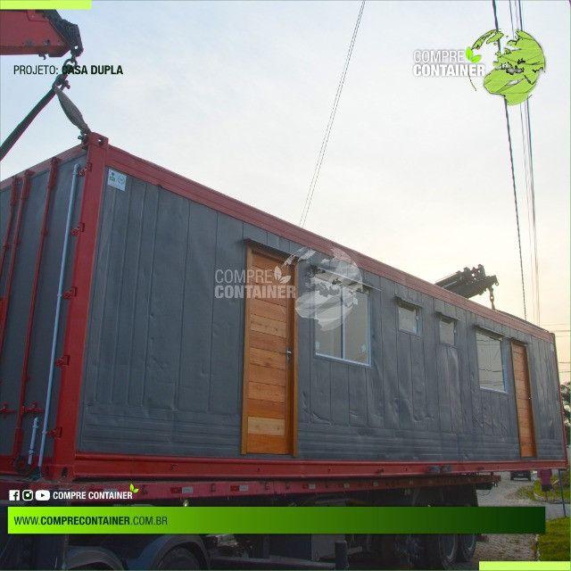 Casa dupla 30m² em container - Ideal para alugueis - Foto 2