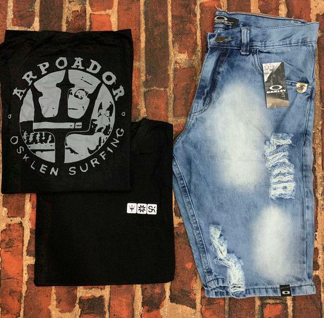 Kit masculino camiseta & bermuda - Foto 6