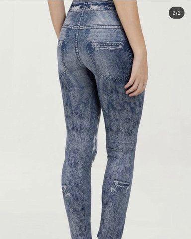 Calça legging imita jeans - Foto 4