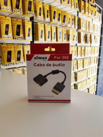 Cabo adaptador de Áudio ótico digital ou Rca Xbox 360