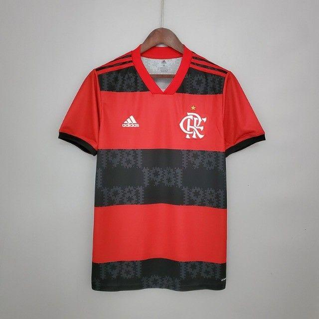 Camisa Flamengo 2021 - Tamanho M - Tailandesa (Primeira Linha)
