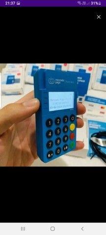 Maquininha Mercadopago POINT ME 30s Blue Nova via Bluetooth - Foto 2
