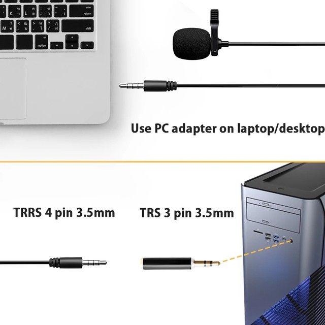 Microfone De Lapela Celular Smartphone Profissional Stereo - Foto 4