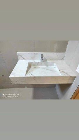Cubas de banheiro, nichos e cozinhas planejadas em porcelanato - Foto 5
